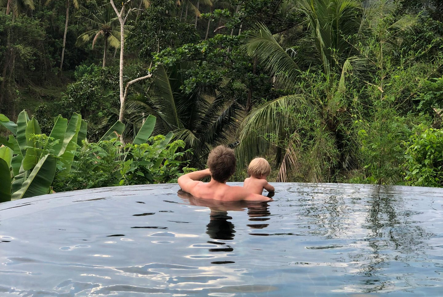 Ollie & James in the Pool - Bali with a toddler - Live life and roam
