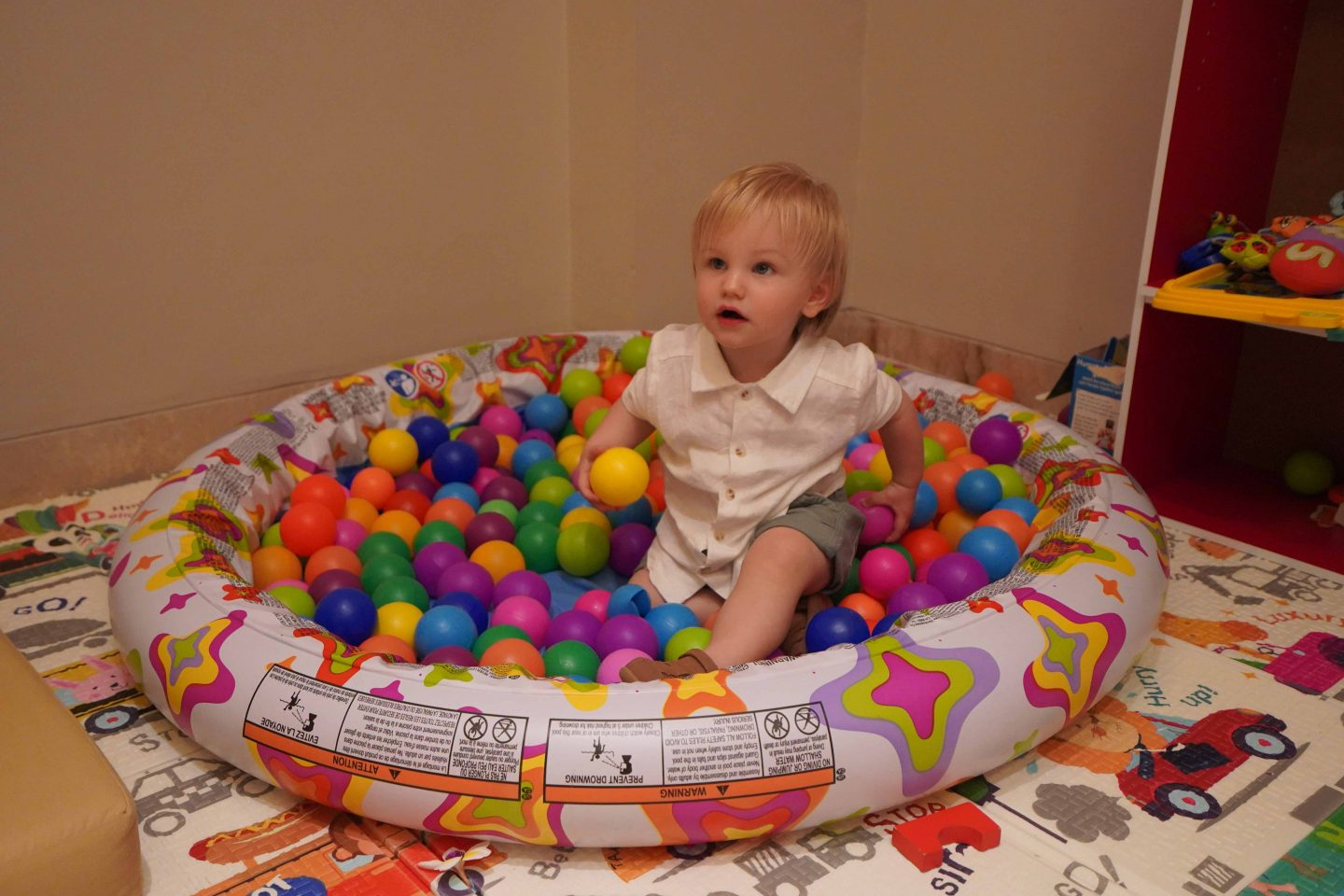 Ollie ballpit- Bali with a toddler - Live life and roam