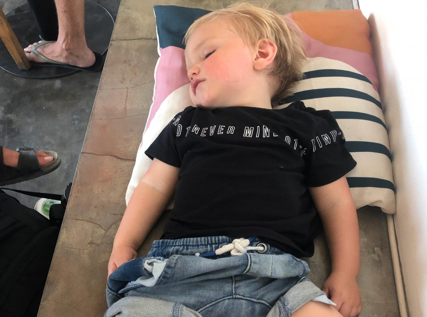 Ollie sleeps anywhere - Bali with a toddler - Live life and roam