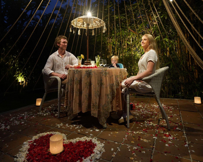 Romantic Candlelight Dinner at Tipi - Kamandalu Bali - Live Life and Roam (1 of 1)