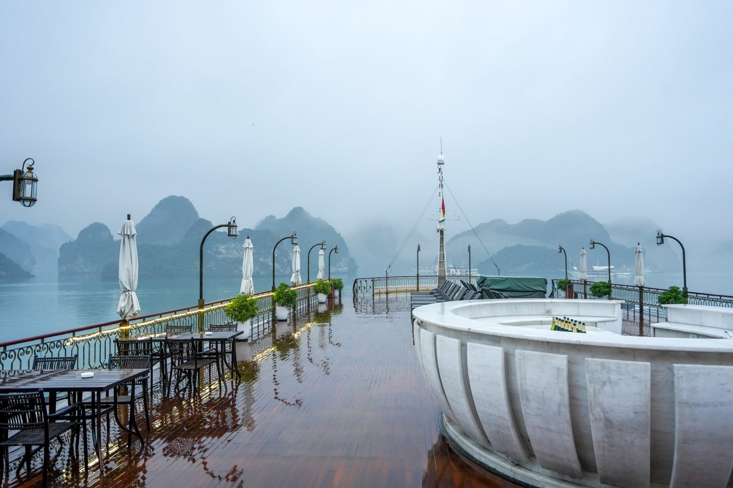 Rooftop Terrace - Indochine Cruise - Lan Ha Bay - Live Life and Roam