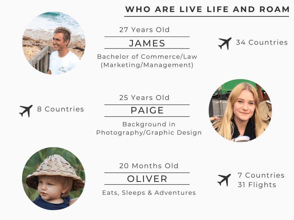 James, Paige & Oliver - About Us - Live Life and Roam