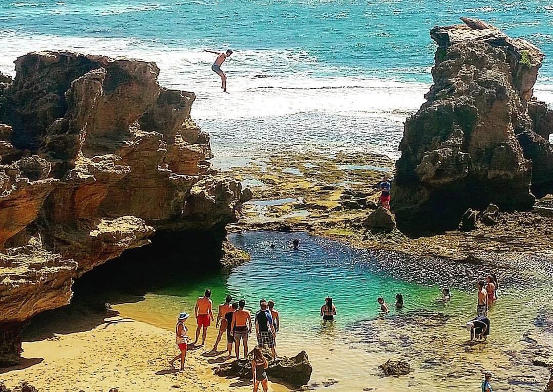 Blairgowrie Jumping Rock _ Best beaches on the mornington peninsula